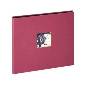 Panodia Album photos traditionnel Studio - 80 vues - 40 pages - Rouge framboise