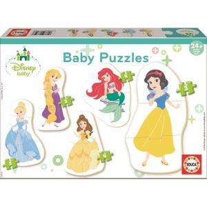 Educa Borrás Princess Baby Disney Princesses 5 Puzzles, 17754