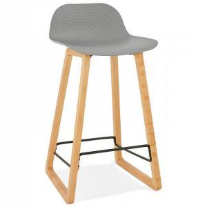 Kokoon Design Tabouret de Bar Scandinave Hêtre Gris SEGOVIA