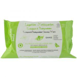 Alphanova Lingettes nettoyantes écologiques & biodégradables