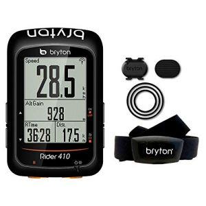 Bryton Compteur Velo GPS Rider 410 T - Fréquence Cardiaque + Cadence