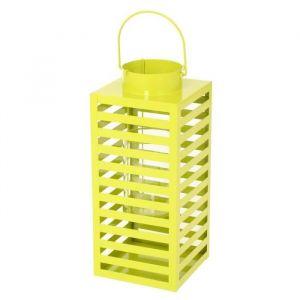 Lanterne carrée en métal 40cm - Vert - En métal - Forme: carrée - Dimensions: 17x17x40cm - Coloris: vert.