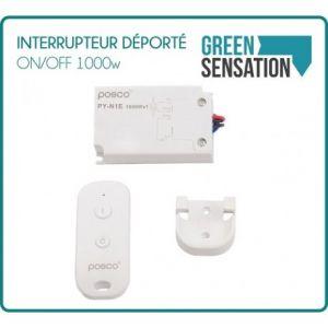 Desineo Interrupteur déporté ON/OFF 1000w télécommande incluse -