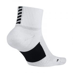 Nike Chaussettes de running Elite Cushion Quarter - Blanc - Taille 44-45.5 - Unisex