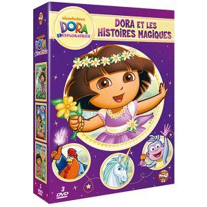 Coffret Dora l'exploratrice - La fête des desserts + Dora et la forêt enchantée + Dora et le spectacle de magie