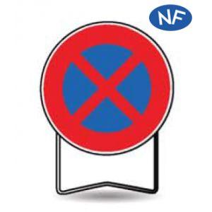 Taliaplast 524008 - Panneau signalisation prescription b6d arrêt interdit t1 850mm