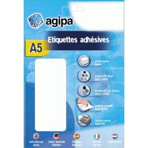 Agipa 114314 - Étui de 960 pastilles adhésives diamètre 15 mm. Coloris Jaune
