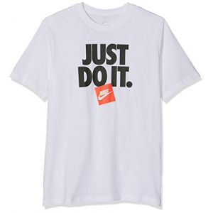 Nike M NSW Tee HBR 3 T-Shirt Homme, Blanc White 100, FR : M (Taille Fabricant : M)