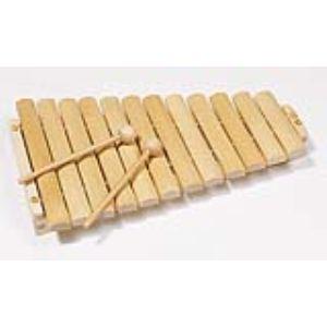 Goki Xylophone en bois avec 12 tons
