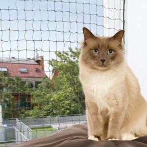 Trixie Filet de sécurité pour balcon vert olive L.8m l.3m