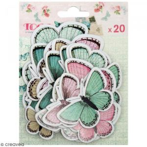 Toga 20 chipboards - papillons - Shabby Love