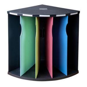 Exacompta 3931928D - Trieur ergonomique THE CORNER 5 compartiments 1928 noir/4 couleurs