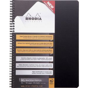 Rhodia 119900C - Notebook Rhodiactive A4+ format 22,5 x 29,7 cm, 160 pages