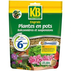KB Engrais osmocote plantes en pot 25 dés