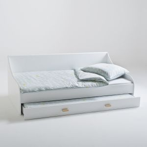 Lit banquette gigogne, JIMI Blanc Taille 90x190 cm