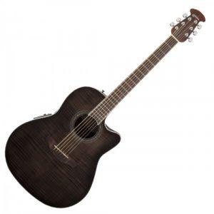 Ovation Guitars Celebrity Standard Plus CS24PTBBY Trans Black Flamed Maple
