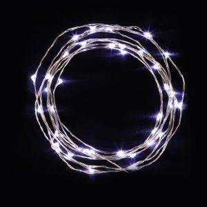 Guirlande de Noël lumineuse 100 mini LED 5m cuivre et blanc froid