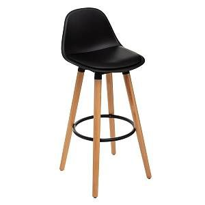 Atmosphera Tabouret de bar confortable Noir MAXON H 92 cm