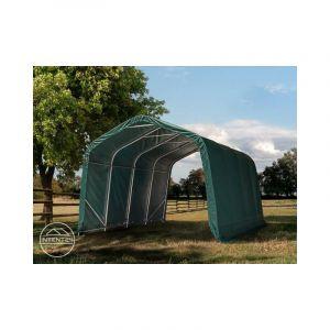 Intent24 Tente de pâturage 3,3x7,2 m, PVC ignifugé d'env. 720g/m² d'épaisseur, vert foncé, béton