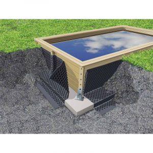 Ubbink 7504635 - Nappe de protection des parois pour piscine bois L.20 x H.1,50 m