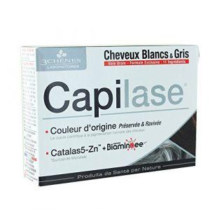 Les 3 chênes Capilase - Complément alimentaire pour cheveux blanc et gris (30 Gélules)