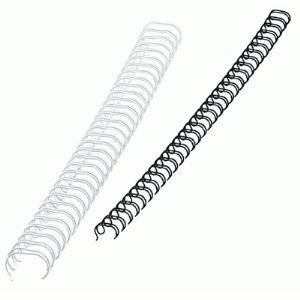 Fellowes 100 baguettes à anneaux métalliques pour format A4 (diamètre 6 mm)