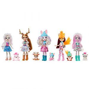Mattel Coffret 5 poupés Enchantimals