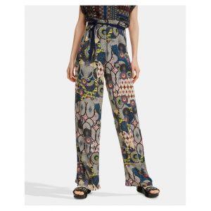 Desigual Pantalon large à imprimé Multicolore - Taille 36