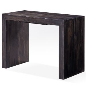 Menzzo Table console Woodini 3 rallonges en bois massif