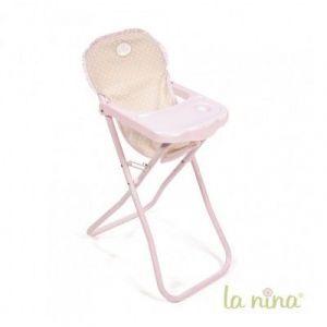 La nina Chaise haute pour poupée 30 cm Inès