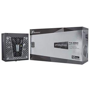 Seasonic PRIME-TX-850 unité d'alimentation d'énergie 850 W ATX Noir PRIME-TX-850, 850 W, 100-240 V, 50/60 Hz, 11-5.5 A, 100 W, 840 W