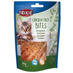 Trixie Premio Chicken Filet Bites Friandises pour chat 3 x 50 g
