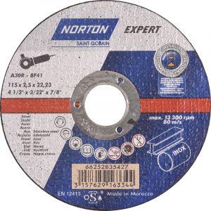 Norton clipper Disque à tronçonner Norton Expert acier/inox 115x2,5x22,23mm