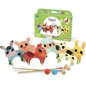 Vilac Croquet en bois des animaux de la ferme