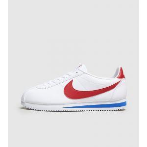 nike cortez leather blanche rouge et bleue