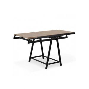 Table / Bibliot que transformable gain de place Clever C ne clair