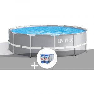 Intex Kit piscine tubulaire Prism Frame ronde 3,66 x 1,22 m + 6 cartouches de filtration