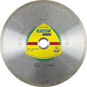 Klingspor Disque diamant SUPRA DT 600 F D. 230 x 1,9 x Ht.7 x 22,23 mm - Grès cérame / Faïence / Carrelage - 325372
