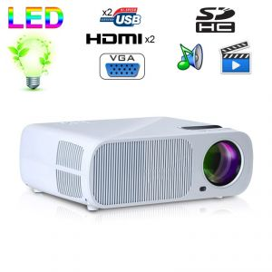 Yonis Mini vidéoprojecteur HD 2600 lumens 110W home cinema HDMI USB
