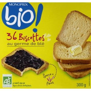 Monoprix Bio Biscottes au germe de blé bio