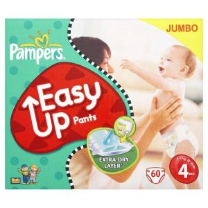 Pampers Easy Up taille 4 Maxi (8-15 kg) - Jumbo pack x 60 couches