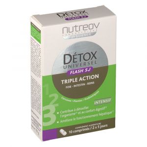 Nutreov Détox Universel Flash 5J Triple action - 10 comprimés