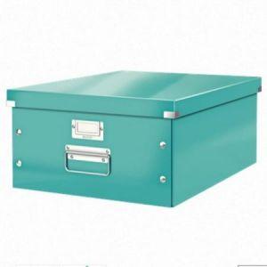 Leitz 6045-00-51 - Boîte de rangement Click & Store, format A3, en PP, coloris menthe glacée