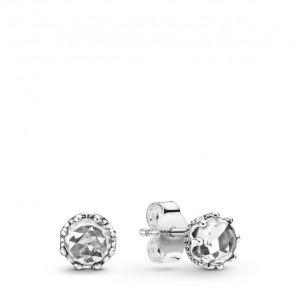 Pandora Boucles d'oreilles 298311CZ - Clous d'oreilles Couronne Scintillante Incolore Argent