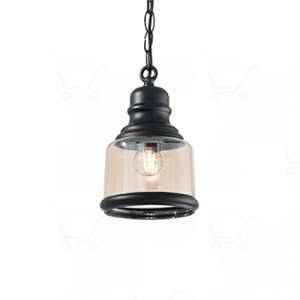 Ideal lux Suspension industrielle Hansel Noir Métal 168586