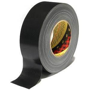 3M Ruban adhésif toilé 389, Noir, 100 mm x 50 m