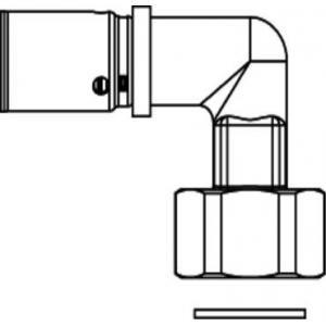 Oventrop 1512752 - Raccord d'angle à sertir diamètre 16x2-15x21 femelle