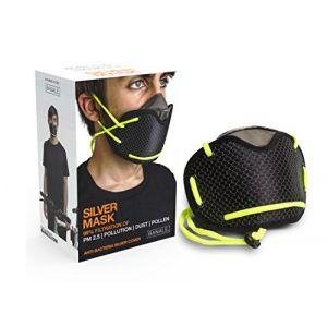 Aide respiration Banale Silver noir et jaune avec filtre