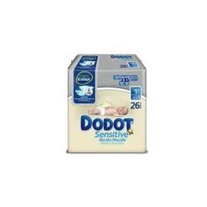 Dodot Couche Sensitive taille 1 Nourrisson (2-5 kg) - paquet de 26