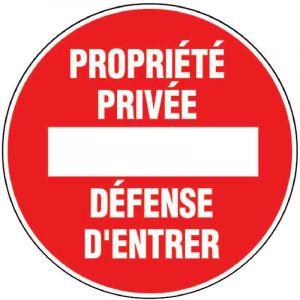 Novap Disque rigide diamètre 18 cm - Propriété privée défense d'entrer
